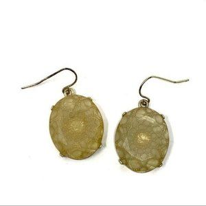 Francesca's Clear Plastic Lace Dangle Earrings